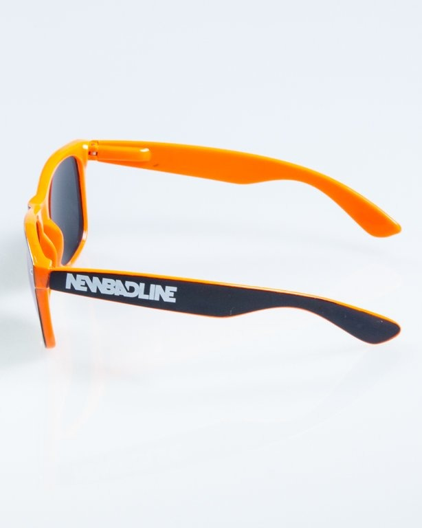 OKULARY CLASSIC INSIDE BLACK-ORANGE FLASH RED MIRROR 846
