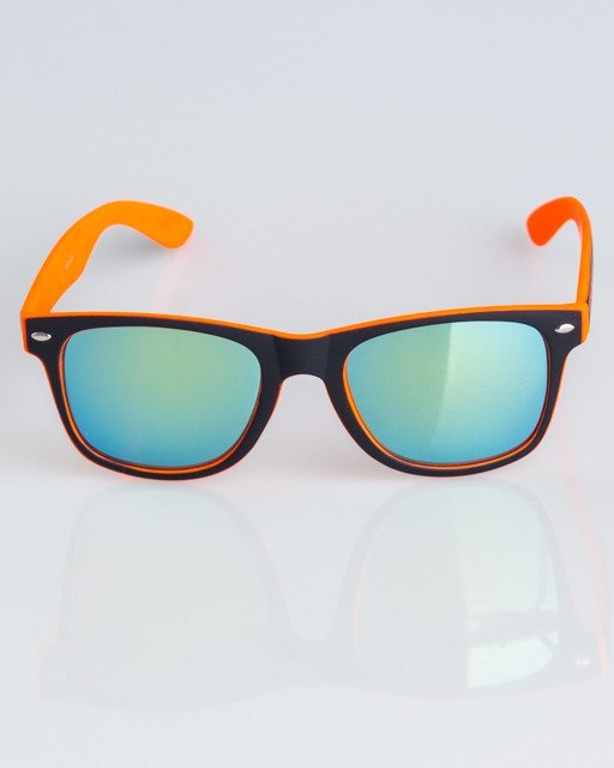 OKULARY CLASSIC INSIDE BLACK-ORANGE RUBBER YELLOW MIRROR 1327