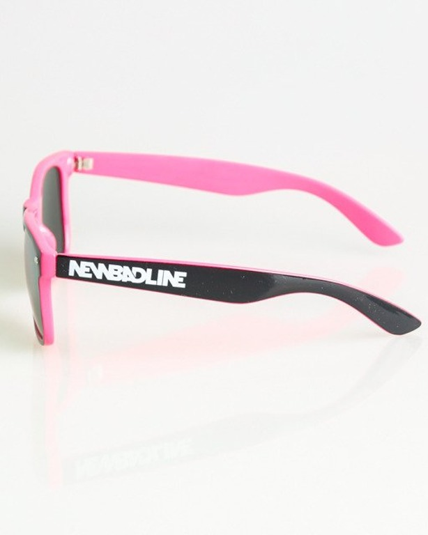 OKULARY CLASSIC INSIDE BLACK-PINK FLASH RED MIRROR 1371