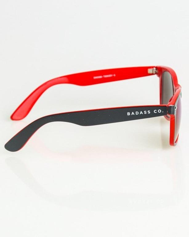 OKULARY CLASSIC INSIDE BLACK-RED FLASH GREEN MIRROR 1363
