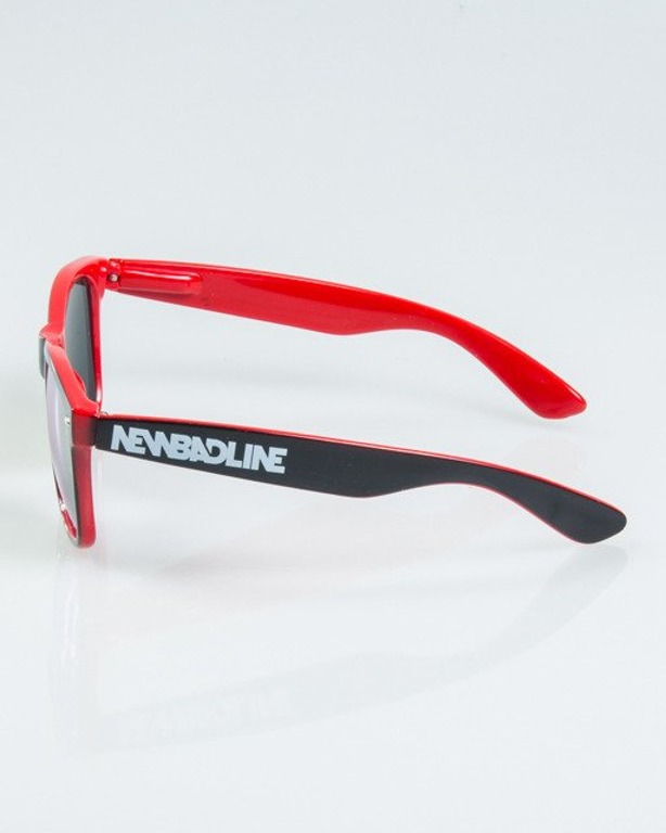 OKULARY CLASSIC INSIDE BLACK-RED FLASH RED MIRROR 1170