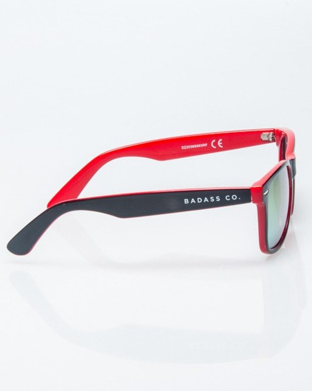 OKULARY CLASSIC INSIDE BLACK-RED FLASH RED MIRROR 1212