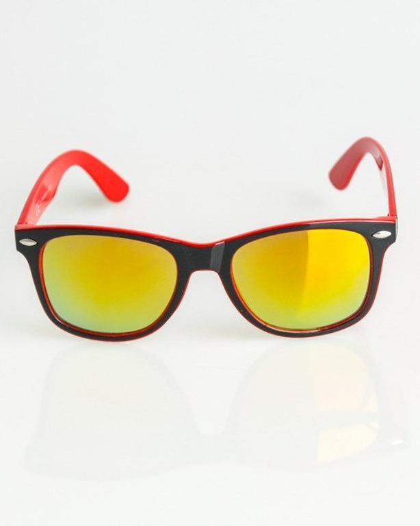 OKULARY CLASSIC INSIDE BLACK-RED FLASH YELLOW MIRROR 1362