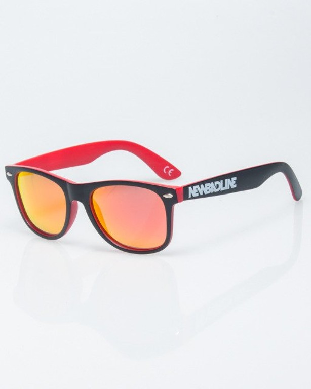 OKULARY CLASSIC INSIDE BLACK-RED MAT RED MIRROR POLARIZED 1183