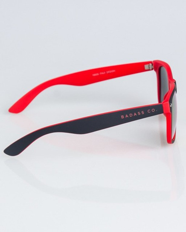 OKULARY CLASSIC INSIDE BLACK-RED RUBBER RED MIRROR 1326