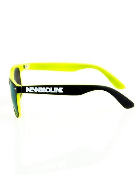 OKULARY CLASSIC INSIDE BLACK-TOXIC MAT YELLOW MIRROR 143