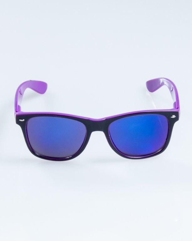 OKULARY CLASSIC INSIDE BLACK-VIOLET FLASH BLUE MIRROR 845