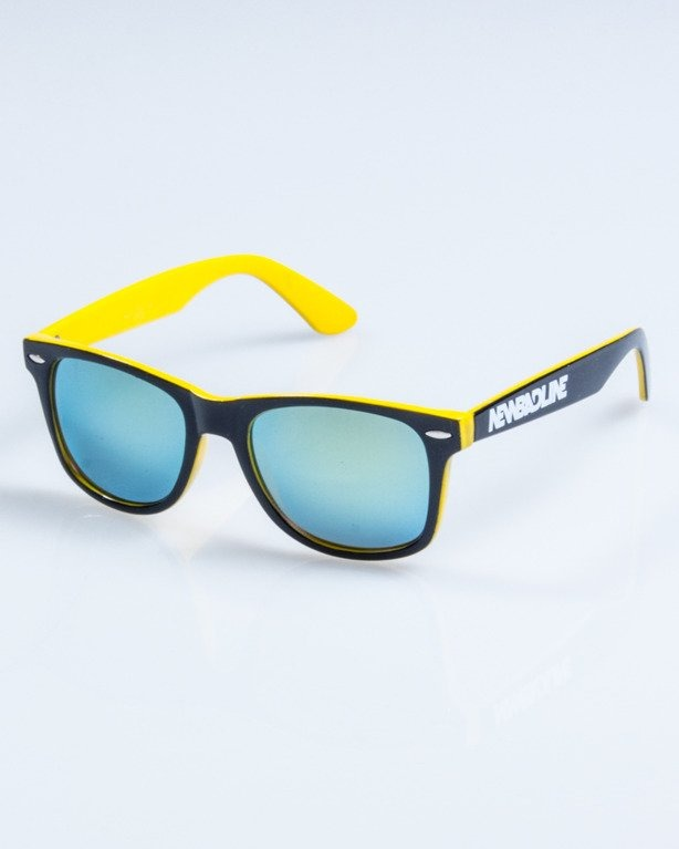 OKULARY CLASSIC INSIDE BLACK-YELLOW FLASH YELLOW MIRROR 751
