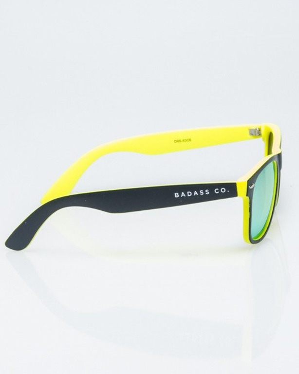 OKULARY CLASSIC INSIDE BLACK-YELLOW MAT YELLOW MIRROR POLARIZED 1184