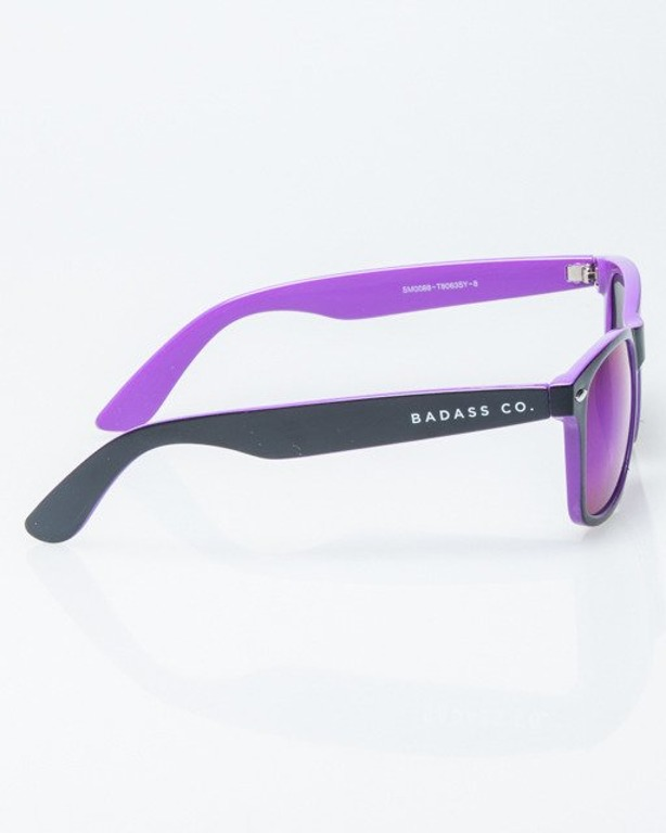 OKULARY CLASSIC INSIDE BLSCK-VIOLET FLASH GREEN MIRROR 1193