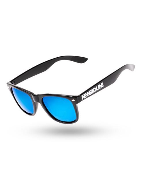 OKULARY CLASSIC POLARIZED BLACK FLASH BLUE MIRROR 00-177