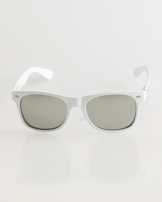 OKULARY CLASSIC WHITE FLASH SILVER MIRROR 017