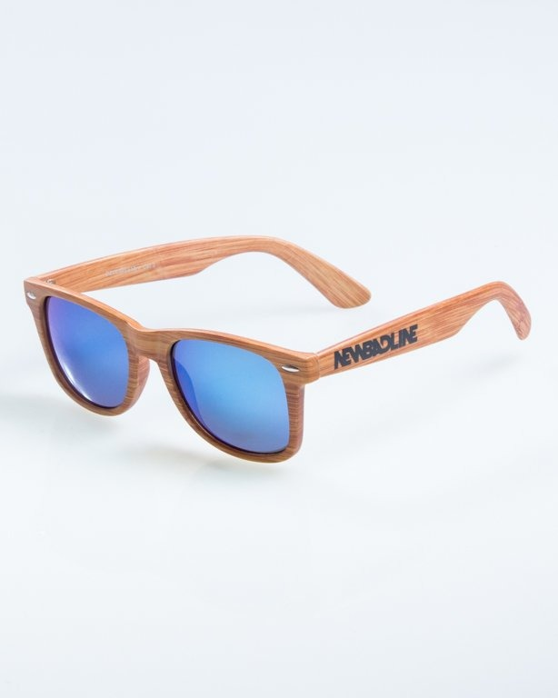 OKULARY CLASSIC WOODY BROWN 1 BLUE MIRROR 891