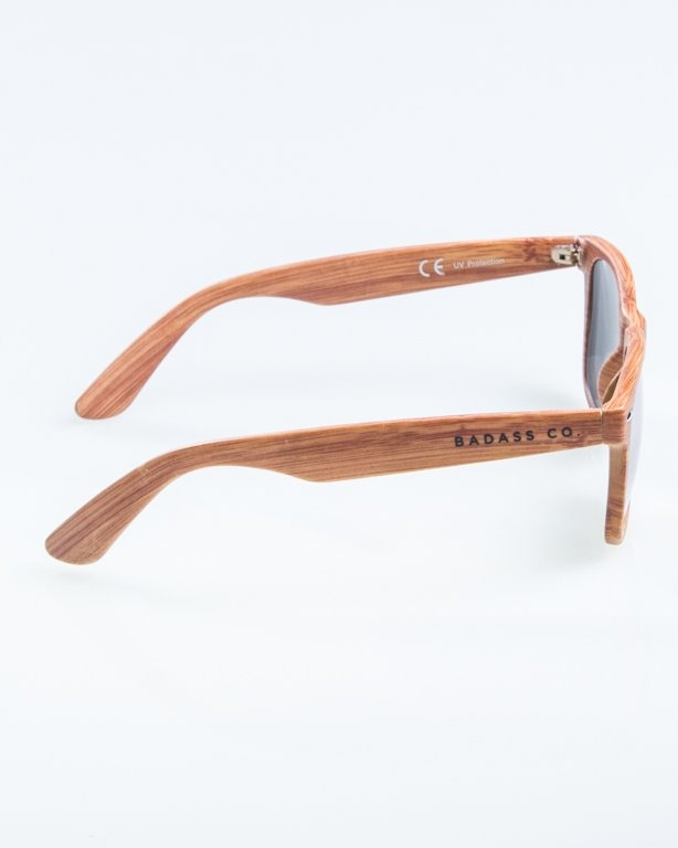 OKULARY CLASSIC WOODY BROWN 2 RED MIRROR 889