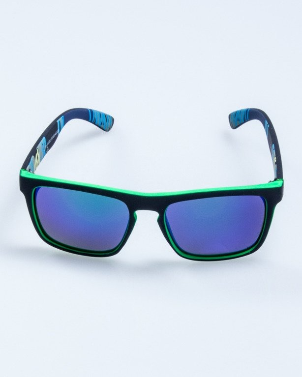 OKULARY COMIX BLACK-GREEN RUBBER GREEN MIRROR POLARIZED 533