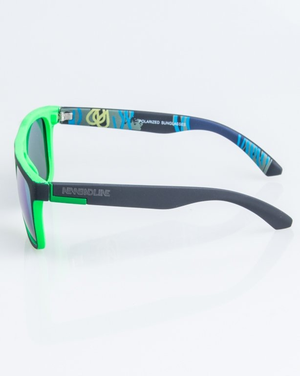 OKULARY COMIX POLARIZED BLACK-GREEN RUBBER GREEN MIRROR 1263