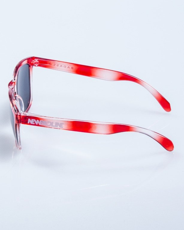 OKULARY CRYSTAL CLEAR WHITE-RED BLACK 592