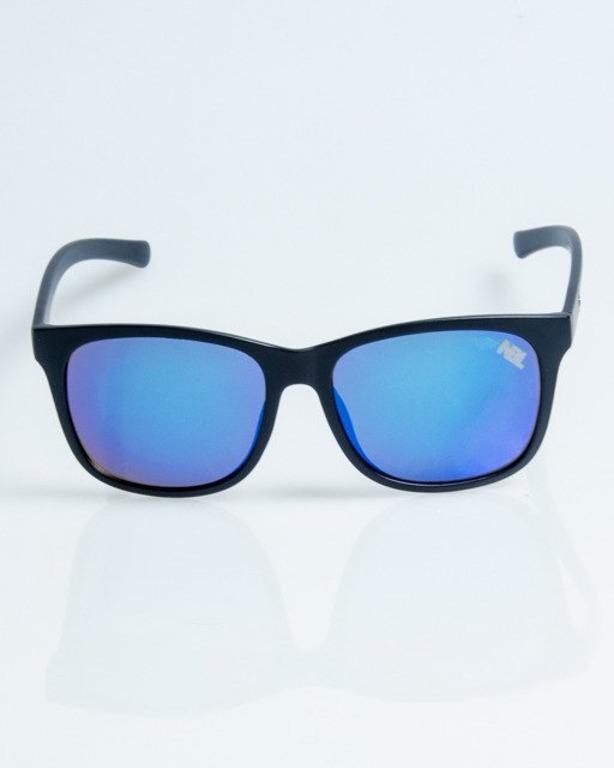 OKULARY DIAMOND BLACK-BLUE MAT BLUE MIRROR 1075