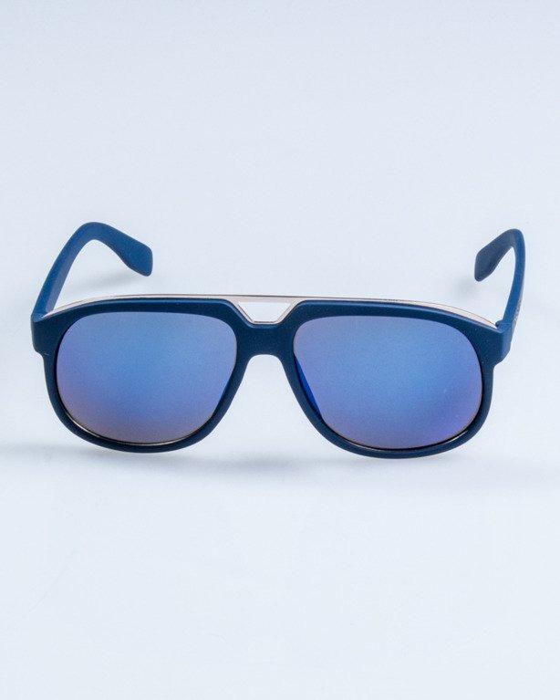 OKULARY ELEGANT  NAVY RUBBER BLUE MIRROR 664