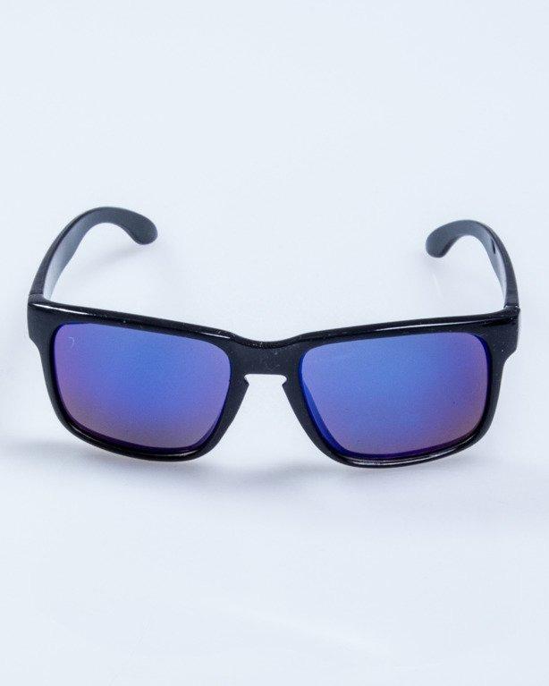 OKULARY FREESTYLE BLACK FLASH BLUE MIRROR 596