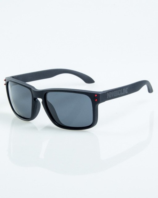 OKULARY FREESTYLE BLACK-RED DOTS RUBBER BLACK POLARIZED 1072