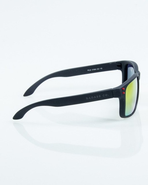 OKULARY FREESTYLE BLACK RUBBER RED MIRROR POLARIZED 1067