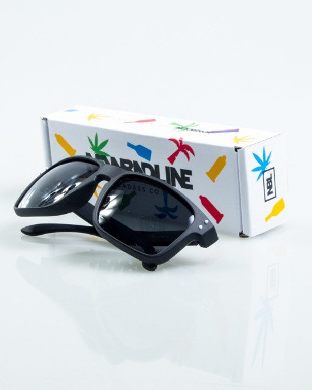 OKULARY FREESTYLE BLACK-WHITE DOTS RUBBER BLACK POLARIZED 1070
