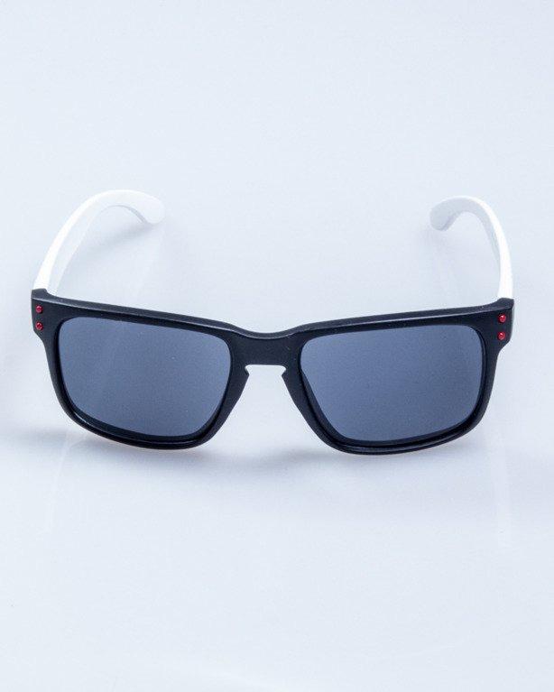 OKULARY FREESTYLE POINT BLACK-WHITE-RED MAT BLACK 645