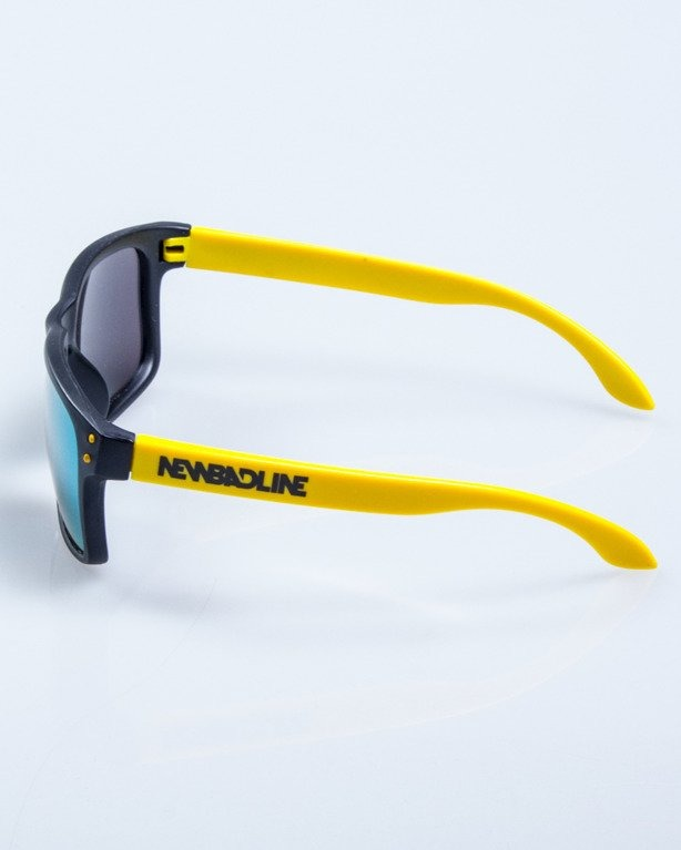 OKULARY FREESTYLE POINT BLACK-YELLOW MAT YELLOW MIRROR 638