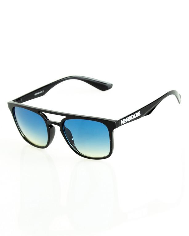 OKULARY GENTLE BLACK FLASH BLUE 202