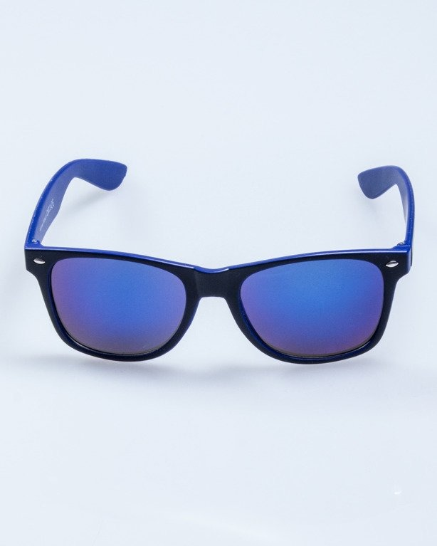OKULARY INSIDE BLACK-BLUE MAT BLUE MIRROR 567