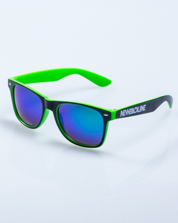 OKULARY INSIDE BLACK-GREEN MAT GREEN MIRROR 506