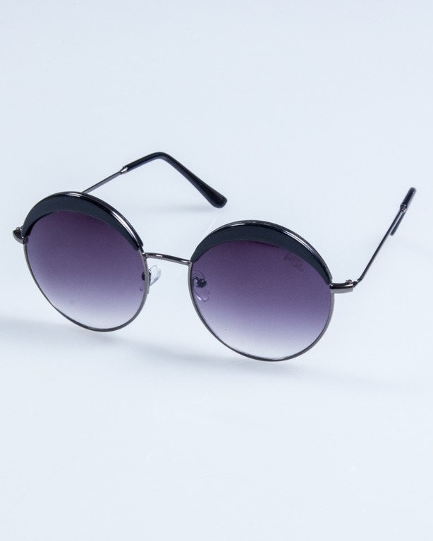 OKULARY LADY COSMO SILVER-BLACK BLACK 700