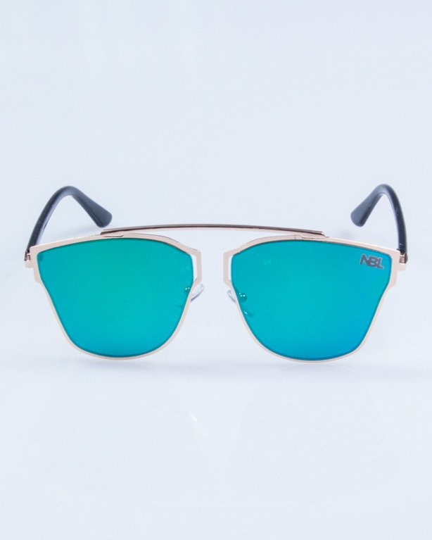 OKULARY LADY FUTURE GOLD GREEN MIRROR 720