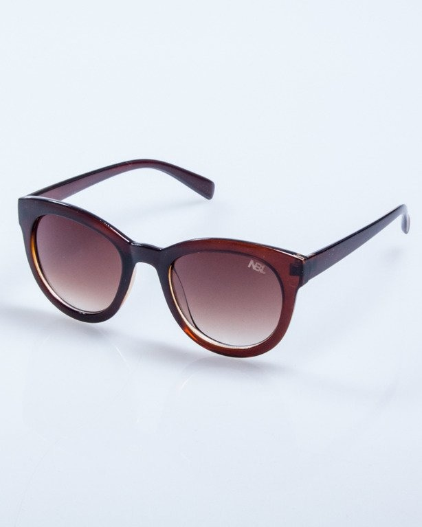 OKULARY LADY KITTY BROWN FLASH BROWN 545