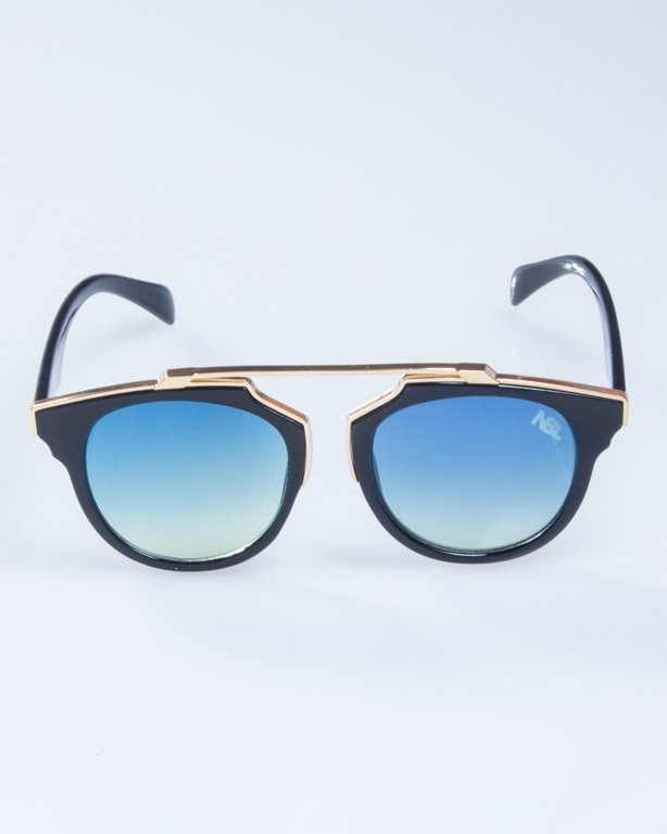 OKULARY LADY ROSH BLACK-GOLD BLUE-YELLOW 928