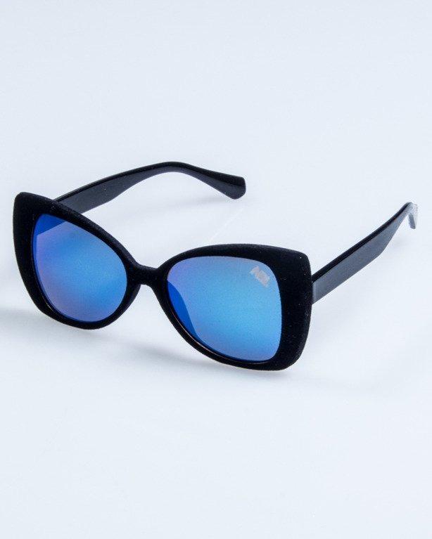 OKULARY LADY ZAMSZ BLACK BLUE MIRROR 739