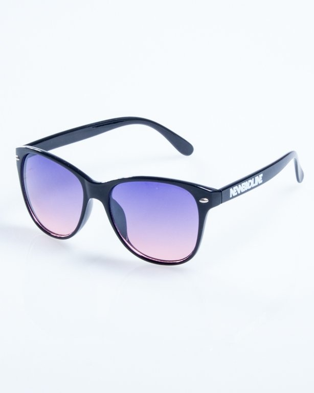 OKULARY LAZY BLACK FLASH VIOLET-PINK 778