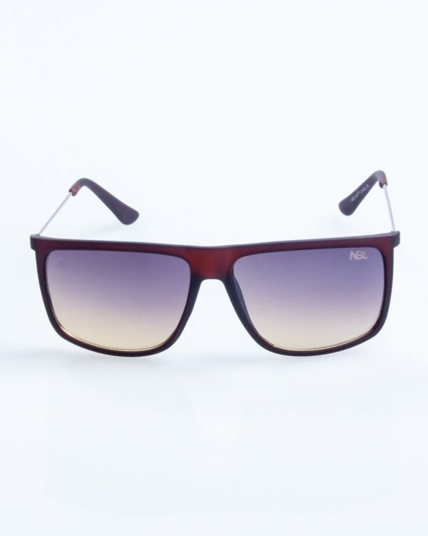 OKULARY NEEDLE BROWN RUBBER BLACK-YELLOW 788