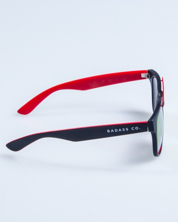 OKULARY NEW CLASSIC BLACK-RED MAT RED MIRROR 661