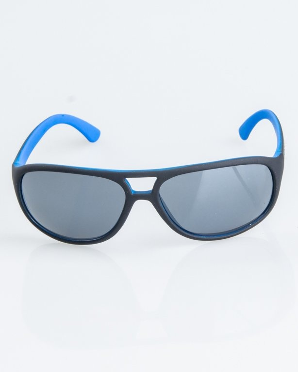 OKULARY OLDSCHOOL BLACK-BLUE RUBBER BLACK 1255