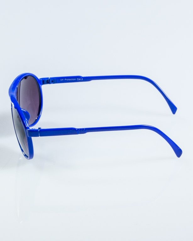 OKULARY ROUND BLUE BLACK 909