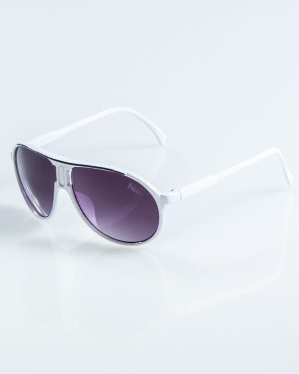 OKULARY ROUND WHITE-BLACK BLACK918
