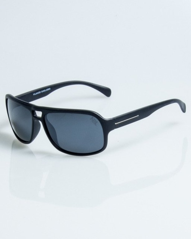 OKULARY SWANK BLACK MAT BLACK POLARIZED 1077