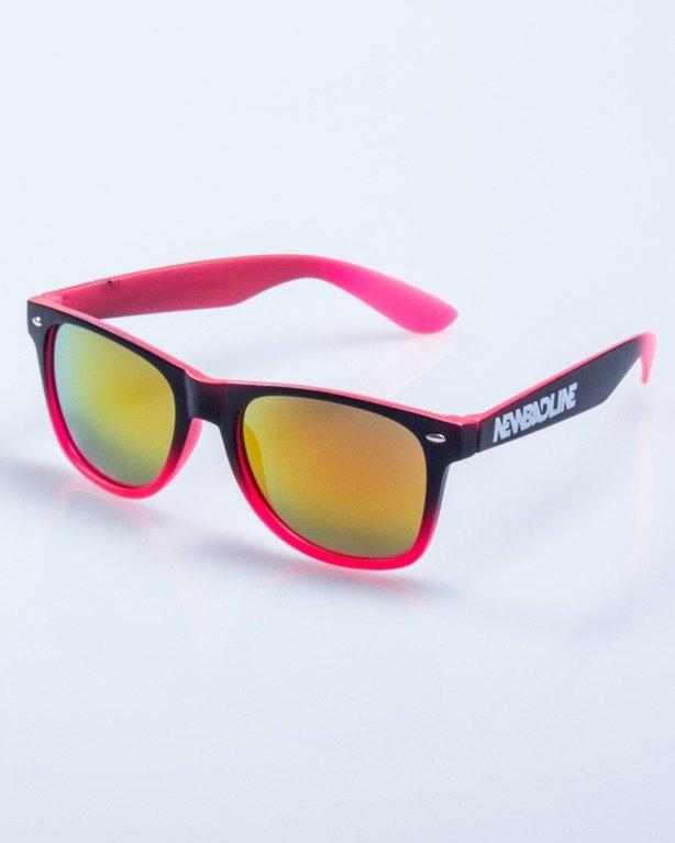 OKULARY TONAL BLACK-PINK RED MIRROR 576