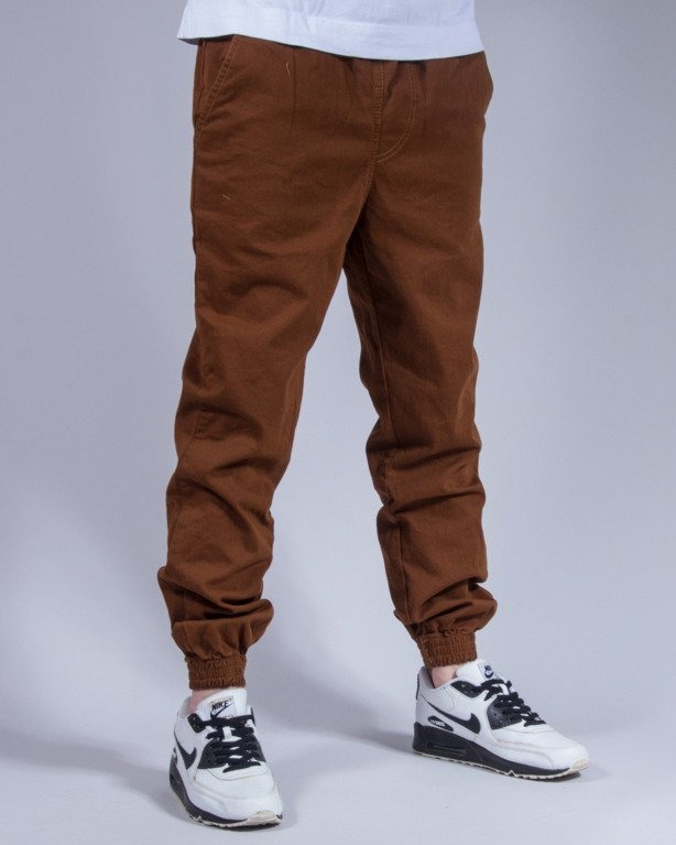 SPODNIE CHINO JOGGER BASKET BROWN