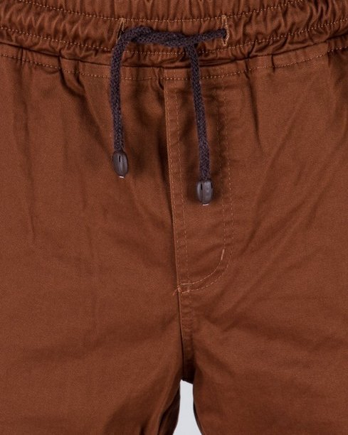 SPODNIE CHINO JOGGER ICON BROWN