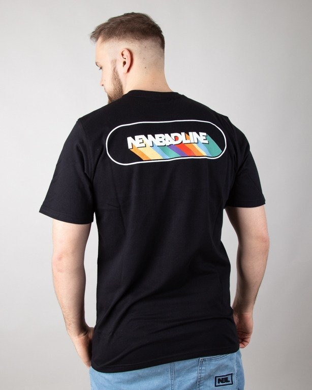 T-SHIRT RAINBOW BLACK