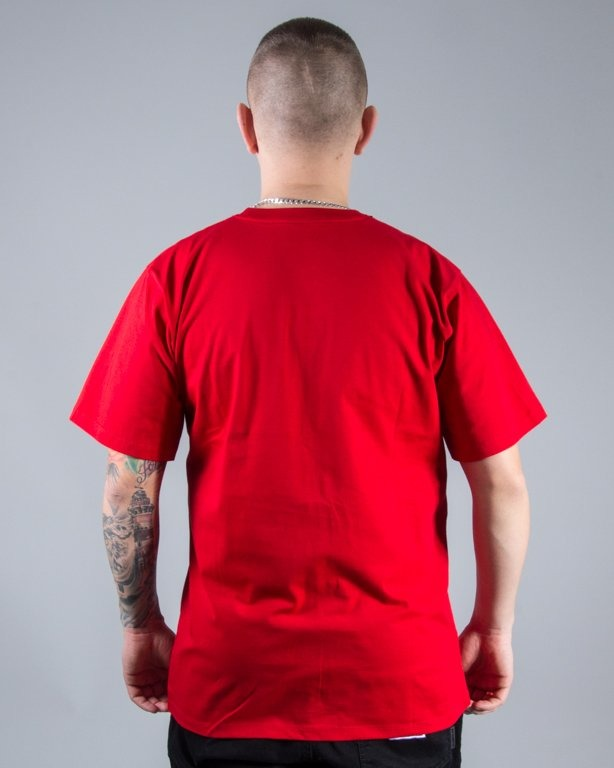 T-SHIRT SDM POCKET RED
