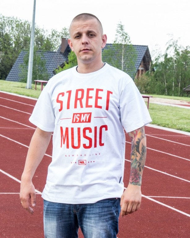 T-SHIRT STREET WHITE-RED